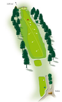 Eleventh hole layout Mount Maunganui Golf Course