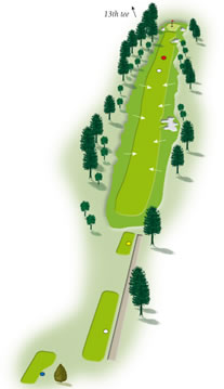 Twelveth hole layout Mount Maunganui Golf Course