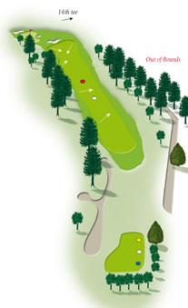 Thirtheenth hole layout Mount Maunganui Golf Course