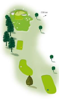 Fourtheenth hole layout Mount Maunganui Golf Course