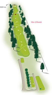 Fiftheenth hole layout Mount Maunganui Golf Course