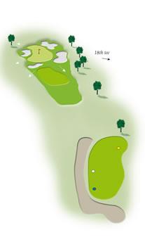 Seventeenth hole layout Mount Maunganui Golf Course