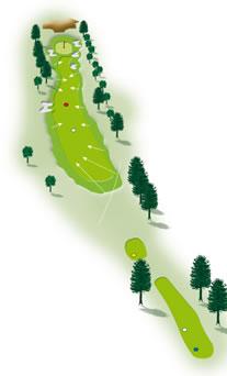 Eighteenth hole layout Mount Maunganui Golf Course