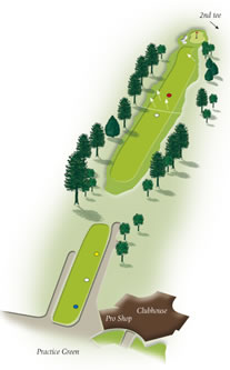 First hole layout at Mount Maunganui Golf Club