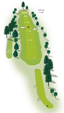Second hole layout Mount Maunganui Golf Course