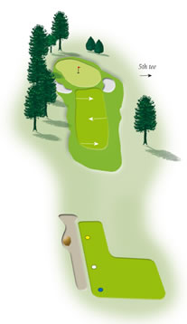 Fourth hole layout Mount Maunganui Golf Course