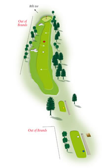 Seventh hole layout Mount Maunganui Golf Course