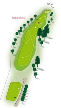 Eighth hole layout Mount Maunganui Golf Course