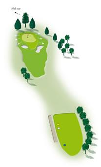 Ninth hole layout Mount Maunganui Golf Course