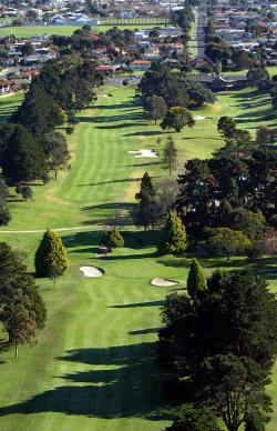 Mount Maunganui Golf Club, aerial shot of the course